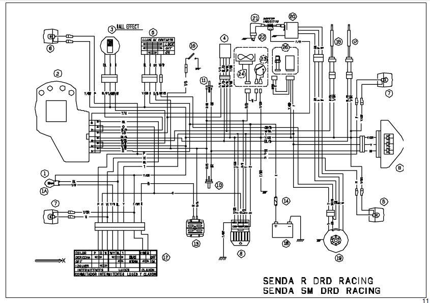derbi senda sm 50 wiring diagram: derbi senda drd pro wiring diagram -  derbi senda